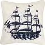 Knotty Buoy Canvas Ship Pillow 18 x18 Inches Brand C&F