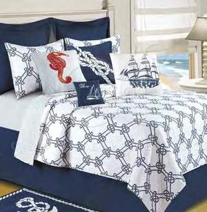 Knotty Buoy Oversized Queen Quilt with 100% Cotton and Cotton Fill Brand C&F