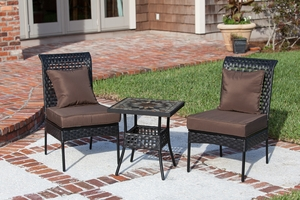 Kongsberg Three-piece Bistro Set, Dashing And Trendsetting Outdoor Home Decor by Well Travel Living