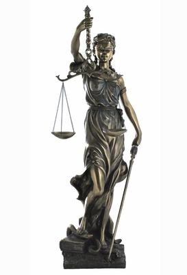 La Justicia Statue with Large Sword and Pair of Scales Brand Unicorn Studio