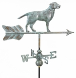 Labrador Retriever Garden Weathervane - Blue Verde Copper w/Roof Mount by Good Directions