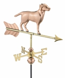 Labrador Retriever Garden Weathervane - Polished Copper w/Roof Mount by Good Directions
