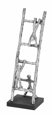 Ladder With Three Men Sculpture A Fantastic Table Space Filler Brand Woodland