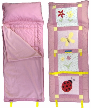 Ladybug All In One Child Nap Roll in Pink by American Hometex