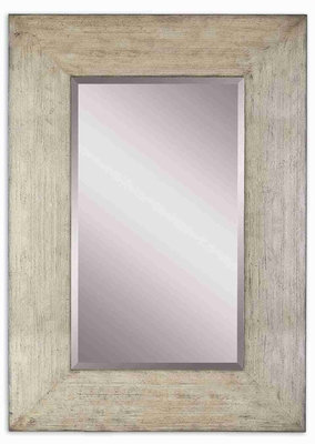 Lagford Wall Mirror with Large Distressed Natural Wood Frame Brand Uttermost