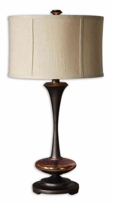 Lahela Metal Table Lamp with Crackled Glass Accent Brand Uttermost