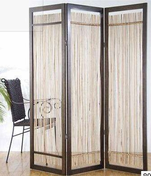 Lanai 3 Panel Rattan Screen Crafted with Natural Finish Brand Screen Gem