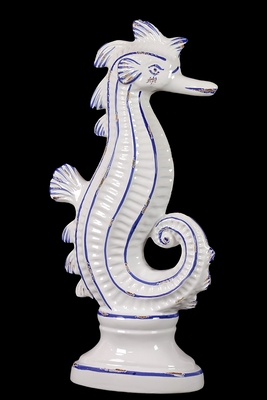 Large Fashionable Decorative Ceramic Sea Horse by Urban Trends Collection