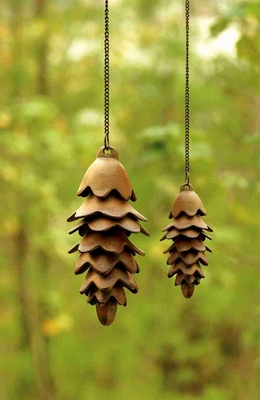 Large Pinecone Wind Chime With Melodious Sound Brand SPI-HOME
