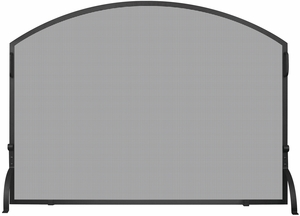 Large Single Panel Black Wrought Iron Arch Top Screen by Blue Rhino