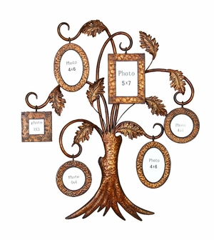 Large Tree Wall Photo Frame 6 Picture Frames Set Brand Woodland