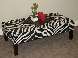 Large Zebra Print Fantastic Coffee Table by 4D Concepts
