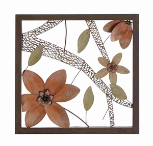 Lattice styled Flowery Elite Metal Wall D�cor Brand Benzara