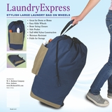 Laundry Bag on Wheels in Navy by Redmon