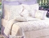 Lavender Trellis Cotton Quilt Luxury Twin  Bedding Ensembles Brand C&F