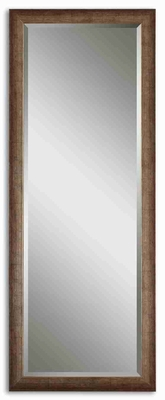Lawrence Antiqued Wall Mirror with Burnished Silver Edges Brand Uttermost