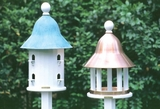 Lazy Hill Farm Designs Bell Bird House with Blue Verde Copper Roof by Lazy Hill Farm Designs
