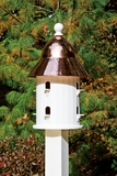 Lazy Hill Farm Designs Bell Bird House with Polished Copper Roof by Lazy Hill Farm Designs