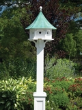 Lazy Hill Farm Designs Carousel Bird House with Blue Verde Copper Roof by Lazy Hill Farm Designs