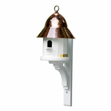 Lazy Hill Farm Designs Copper Top Bird House with Polished Copper Roof by Lazy Hill Farm Designs