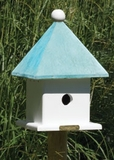 Lazy Hill Farm Designs Mini Bird House with Blue Verde Copper Roof by Lazy Hill Farm Designs