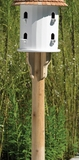 Lazy Hill Farm Designs Round Natural Cedar Post with Brackets by Lazy Hill Farm Designs