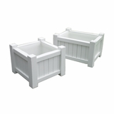 Lazy Hill Farm Designs Small Square Planter - White by Lazy Hill Farm Designs