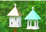 Lazy Hill Farm Designs Square Bird House with Polished Copper Roof by Lazy Hill Farm Designs