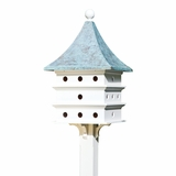 Lazy Hill Farm Designs Ultimate Martin Bird House with Blue Verde Copper Roof by Lazy Hill Farm Designs