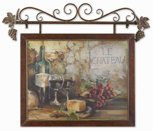 Le Chateau Framed Art with Metal Finish in Brown Brand Uttermost