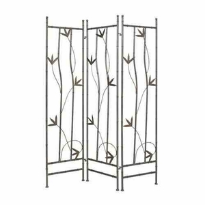 Leaf Iron Screen, 3 Panels, 54 Inch Length x 72 Inch Height Brand Screen Gems