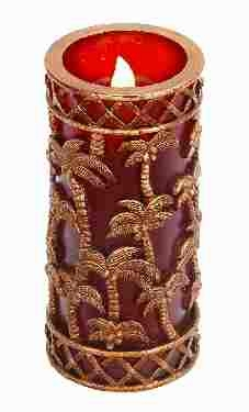 Led Candle Blow On-off Decor in Golden Finish with Modern Look Brand Woodland