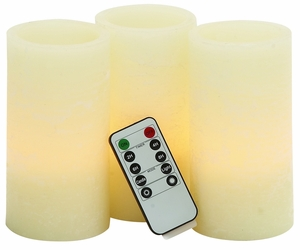 LED Flameless Candle Remote Set by Woodland Import