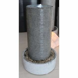 Led Light Column with Polished Stone Round Base Fountain Brand Screen Gem