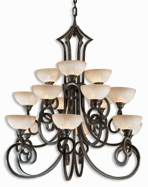 Legato 15 Light Chandelier With Linear Complexity and Elegance Brand Uttermost