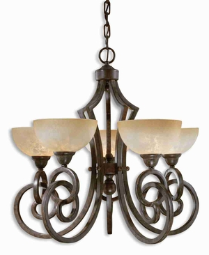 Legato 5 Light Chandelier With Linear Complexity and Elegance Brand Uttermost