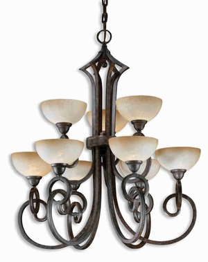Legato 9 Light Chandelier With Linear Complexity and Elegance Brand Uttermost