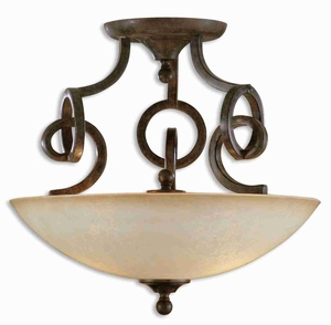 Legato Semi Flush Mount Light With Complexity and Elegance Brand Uttermost