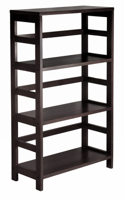 Winsome Wood Leo 3 Tier Stylish and Grand Wide Shelf/Storage