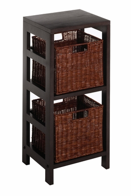 Leo 3pc Shelf with Elegant Conture by Winsome Woods