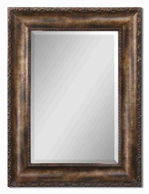 Leola Wall Mirror with Antique Bronze and Gold Undertones Brand Uttermost