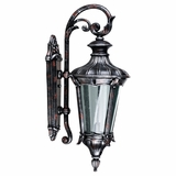 Leonardo Collection Enthralling 2 Lights Exterior Light Wall Mount in Silver with Red by Yosemite Home Decor