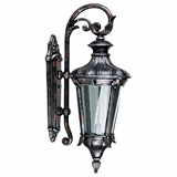 Leonardo Collection Lovely 2 Lights Silver with Red Colored Exterior Light Wall Mount by Yosemite Home Decor