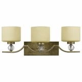 Lewisia Collection Beautiful 3 Light Vanity Lighting in Bronze with Gold trim by Yosemite Home Decor