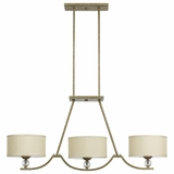 Lewisia Collection Beautiful Styled 3 Light Chandelier Lighting in Bronze with Gold trim by Yosemite Home Decor