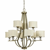 Lewisia Collection Enthralling Stylized 9 Lights Chandelier in Golden Dew by Yosemite Home Decor