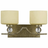 Lewisia Collection Mesmerized 2 Lights Vanity Lighting in Bronze with Gold trim by Yosemite Home Decor