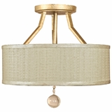 Lewisia Collection Modish Stylized 2 Lights Semi - Flush Mount in Golden Dew by Yosemite Home Decor