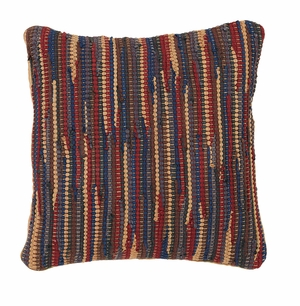 "Lewiston Chindi/Rag Pillow 16"" x 16"" by VHC Brands"