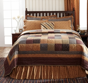 Lewiston Premium Soft Cotton Quilt Luxury Super King 120 x105 by VHC Brands